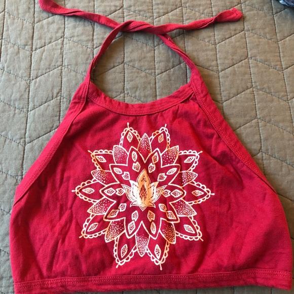 PacSun Tops - Lotus Flower Halter Crop top